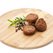 Stock Photo: Rissoles with peppercorn