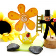 Wooden blossom with stones — Stock Photo