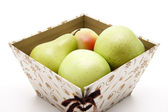 Fresh apples and pears — Stock Photo