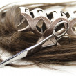 Hairpiece with hair slide — Stock Photo