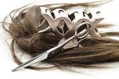 шиньон с слайд волос — Стоковое фото