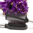 Hairbrush with comb — Stock Photo