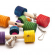 Stock Photo: Bird toys with bell