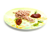 Fresh minced meat flesh — Stock Photo