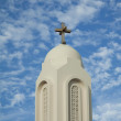 Churches tower with cross — Stock Photo