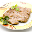 Stock Photo: Cutlet on porcelain plate