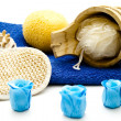 Massage sponge and brush — Stock Photo