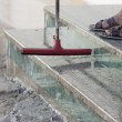 图库照片: Water proof puller for stair