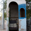 Foto Stock: Awake small houses with chair