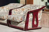 Old armchairs with upholstery — Stock Photo