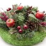 Christmas flower arrangement — Stock Photo #19356887