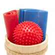 Stock Photo: Massage ball with gymnastics tape