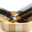 Hairbrush and comb — Stock Photo