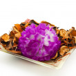 Stock Photo: Flower with potpourri