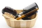 Hairbrush and comb — Stock Photo