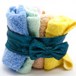 Stock Photo: Coloured washcloths