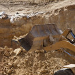 Stock Photo: Excavator shovel