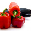 Stock Photo: Paprika and aubergine