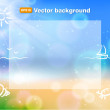 Stock Vector: Beach background