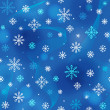 Snowflakes pattern — Stockvectorbeeld