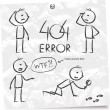 Stock Vector: 404 error