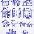 Stock Vector: Set of houses