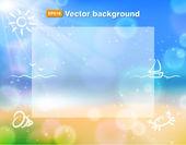 Beach background — Stock Vector