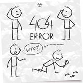 Error 404 — Vector de stock