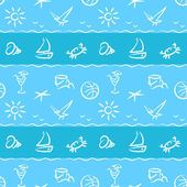 Beach vacation pattern — Stockvektor