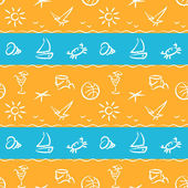 Beach vacation pattern — Stock Vector