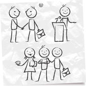 Sketch of businessmen — Stock Vector