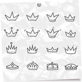 Crowns set — Stock Vector