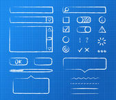Form elements — Stock Vector