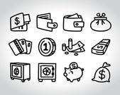 Money sketch — Stock Vector