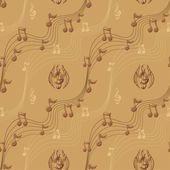Music notes background — Stockvektor