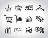 Shopping sketch — Stock Vector