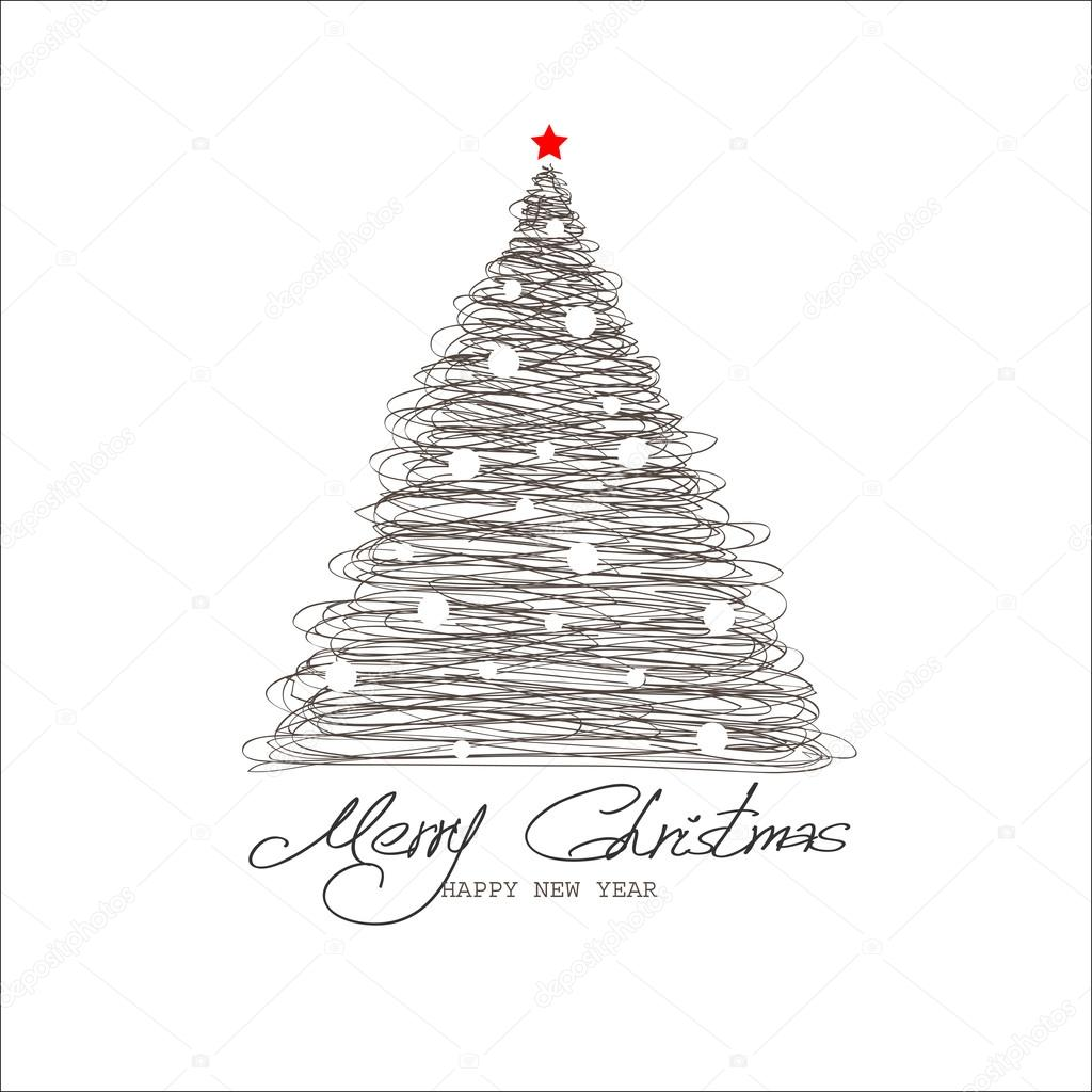 Christmas and New Year. Vector greeting card — Stock Vector #17832843