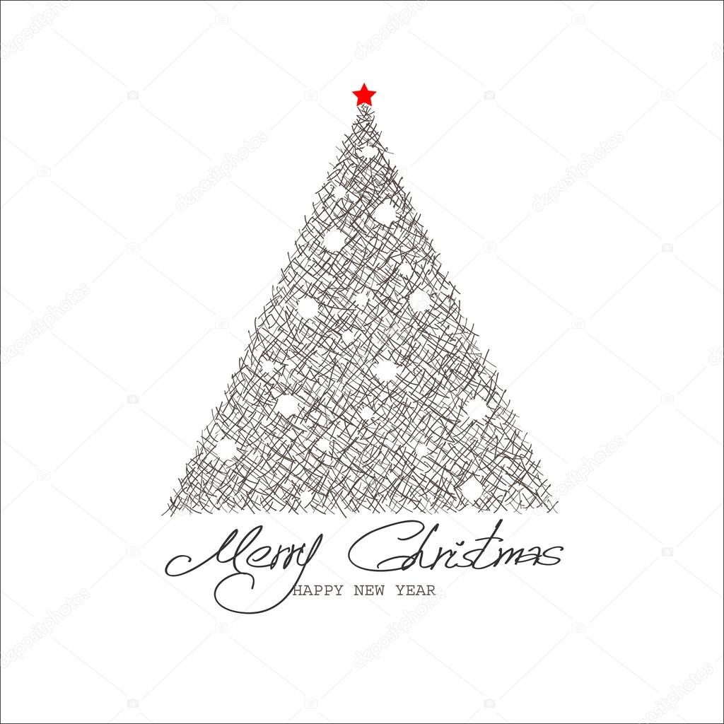 Christmas and New Year. Vector greeting card  Stock Vector #17832845