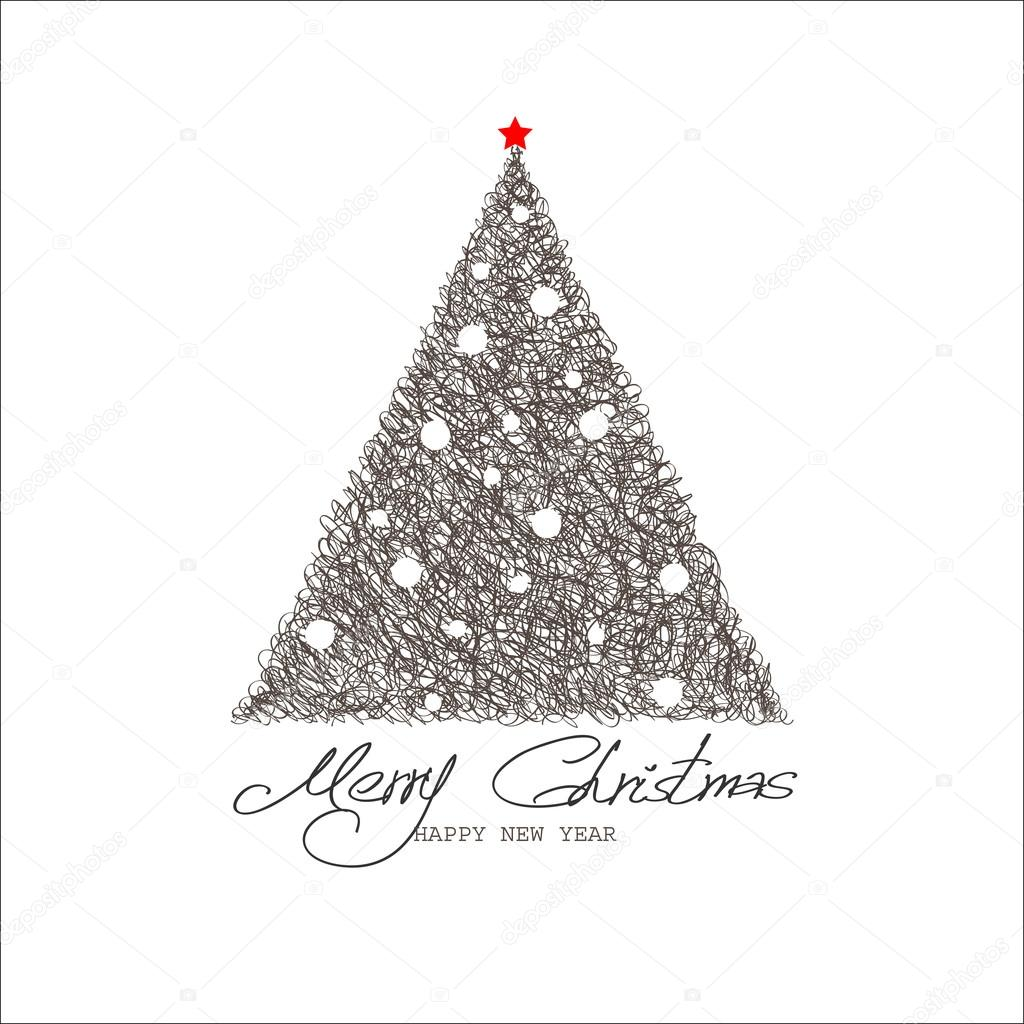 Christmas and New Year. Vector greeting card — Stock Vector #17832847