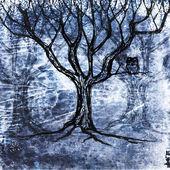 坐在一棵树上的猫头鹰 — 图库照片