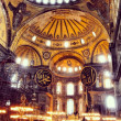 Interior Hagia Sophia, Istanbul, Turkey — Stock Photo