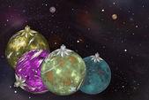 Palle di natale cosmico dei pianeti — Foto Stock