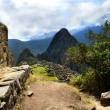 Inca Trail leading to Machu Picchu — Stock Photo