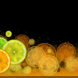 Stock Photo: Citrus border