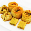 Assortment of baklava — Stock Photo