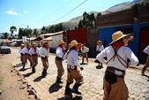 Dancing in a small Peruvian city — Stock Photo
