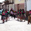 Religious holiday in small Peruvicity — Stock video #28467983