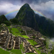 Inca emperor in Machu Picchu — Stock Photo
