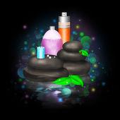 明亮的插图的 spa 化妆品 — 图库照片