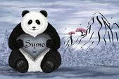 Panda sumo — Stock Photo